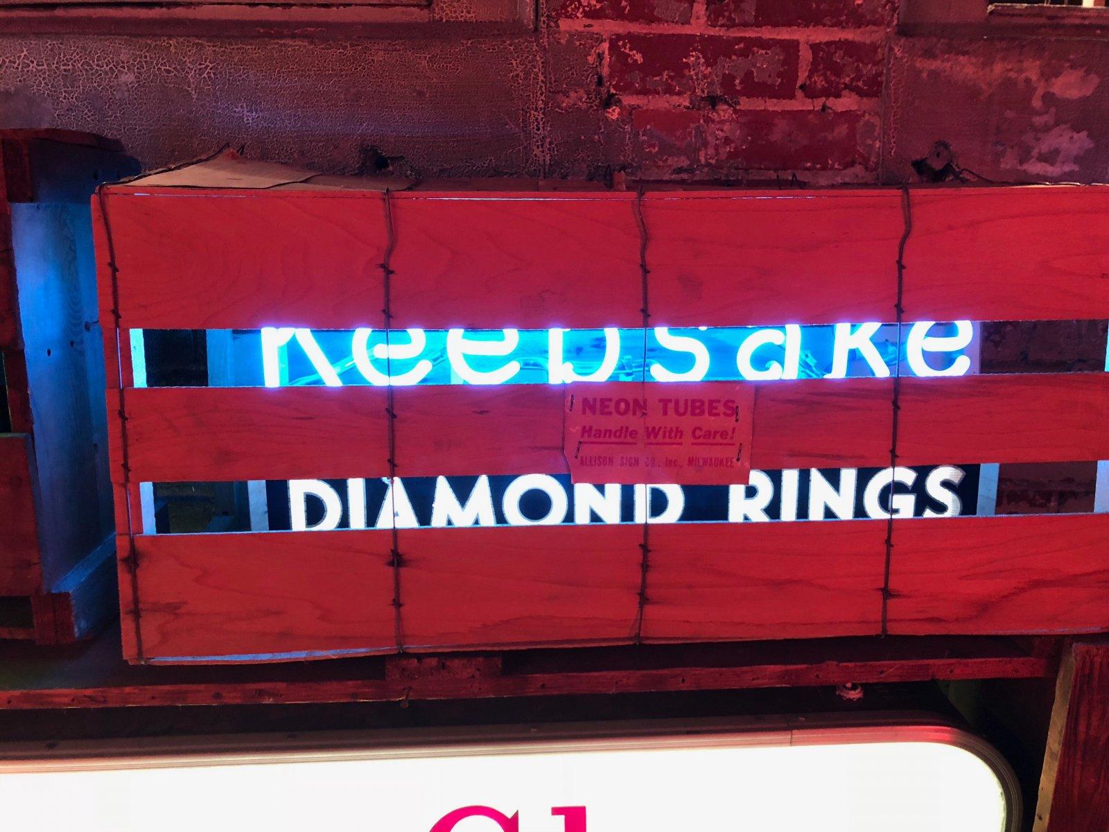 Milwaukee-made Keepsake Diamond Rings Sign