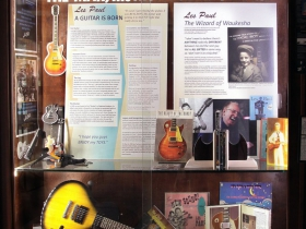 """Les Paul, """"The Man, the Musician, & Wizard"""" Exhibit at the Wauwatosa Library"""