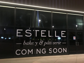 Across from the arena a bakery is coming soon.