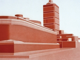 Frances Myers: Johnson Wax Building from The Frank Lloyd Wright Portfolio, 1980