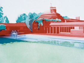 Frances Myers: Wingspread from The Frank Lloyd Wright Portfolio, 1980