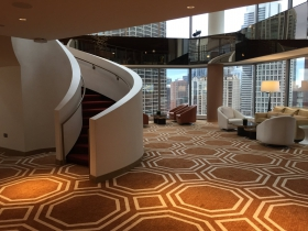 Two-Story Lobby at Conrad Chicago