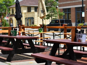 Parklet at Three Lion's Pub