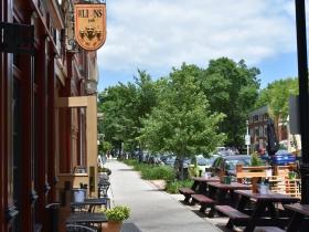 Parklet at Three Lion's Pub