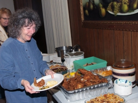 County Grounds Coalition volunteers and supporters enjoyed the homemade food and deserts.