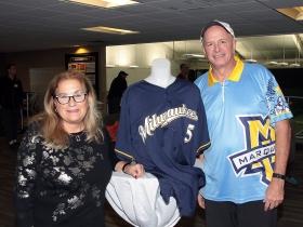 Elite Clubs' owner, Kay Yuspeh and Steve 'The Homer' True.