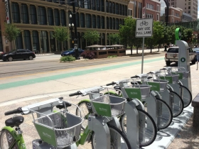 Bike-sharing in Salt Lake City. Photo by Bart Griepentrog.