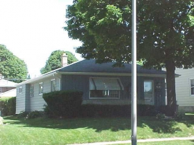 The Perkl house on Candy Cane Lane pre-decoration. Photo from the City of West Allis.