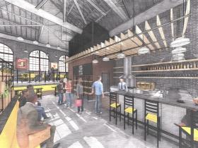 Conceptual cafe rendering