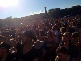 The crowd at the Doomtree show