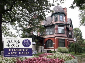 The Wauwatosa Historical Society's 32nd Annual Firefly Art Fair held at the Kneeland-Walker House and Grounds on August 4 & 5, 2018