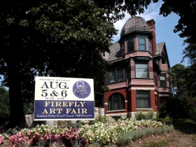 The Wauwatosa Historical Society's 31st Annual Firefly Art Fair held at the Kneeland-Walker House and gardens on August 5 & 6, 2017