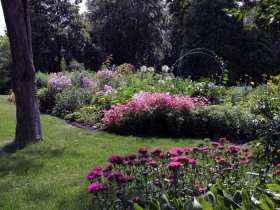 The 1.5 acres of gardens and grounds at the Kneeland-Walker House is cared for by volunteers from the Wauwatosa Historical Society and from the UW Ext South East Wisconsin Master Gardeners