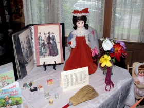 The Wauwatosa Historical Society  Kneeland-Walker House exhibit of children's pastimes, books and toys