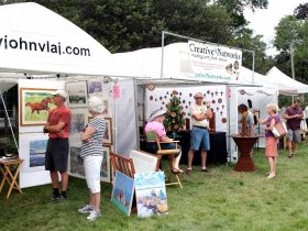 The Wauwatosa Historical Society's 31st Annual Firefly Art Fair featured over 80 artists