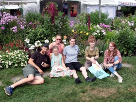 The Andrews-Girman clan, enjoyed a day in the gardens at the Firefly Art Fair