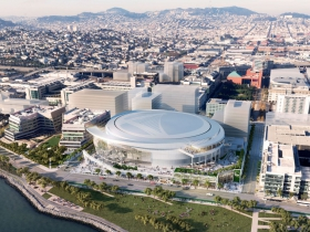 San Francisco Arena - East Aerial.