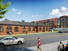 Historic Powerhouse - Crescent Apartments rendering