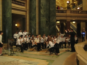 Performance inside the rotunda. Photo by Michael Horne.