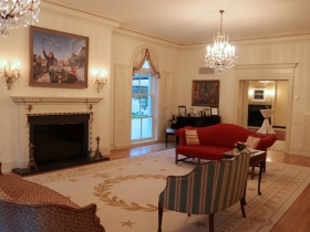 """Wishes in the Wind"" by David Lenz is displayed in the Executive Residence."