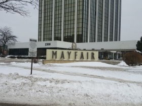 North Mayfair Road is the namesake of the Mayfair Mall