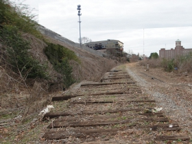 Before picture of the Atlanta BeltLine corridor at Pylant St.