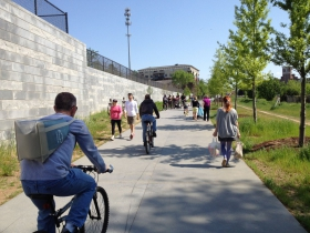 Picture of the Atlanta BeltLine corridor at Pylant St.
