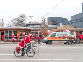 This year registration was at BelAir Cantina where they served free coffee and hot chocolate from Valentine Coffee, had $2 golden ticket tamales with prizes and served their full menu to fuel everyone for the ride.