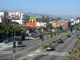Santa Monica Boulevard in Los Angeles
