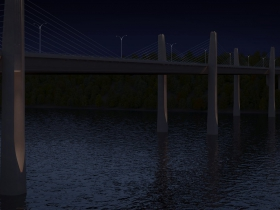 St. Croix Crossing at night