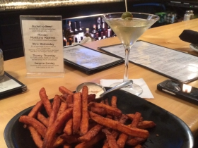 Sweet Potato Fries and a Martini