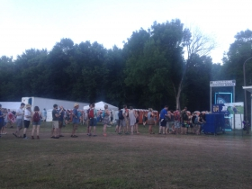 The line  at the water station