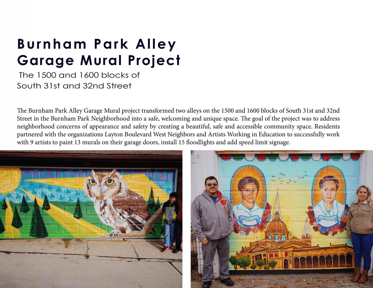 Burnham Park Alley Garage Mural Project