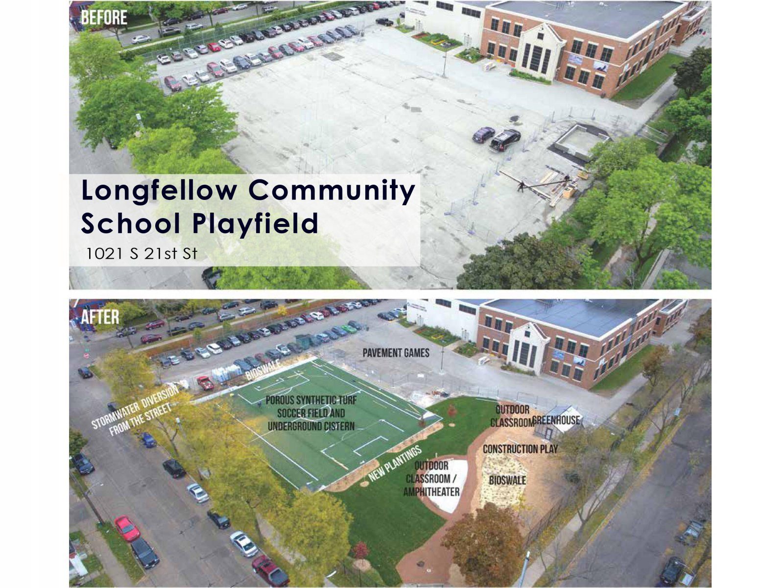Longfellow Community School Playfield