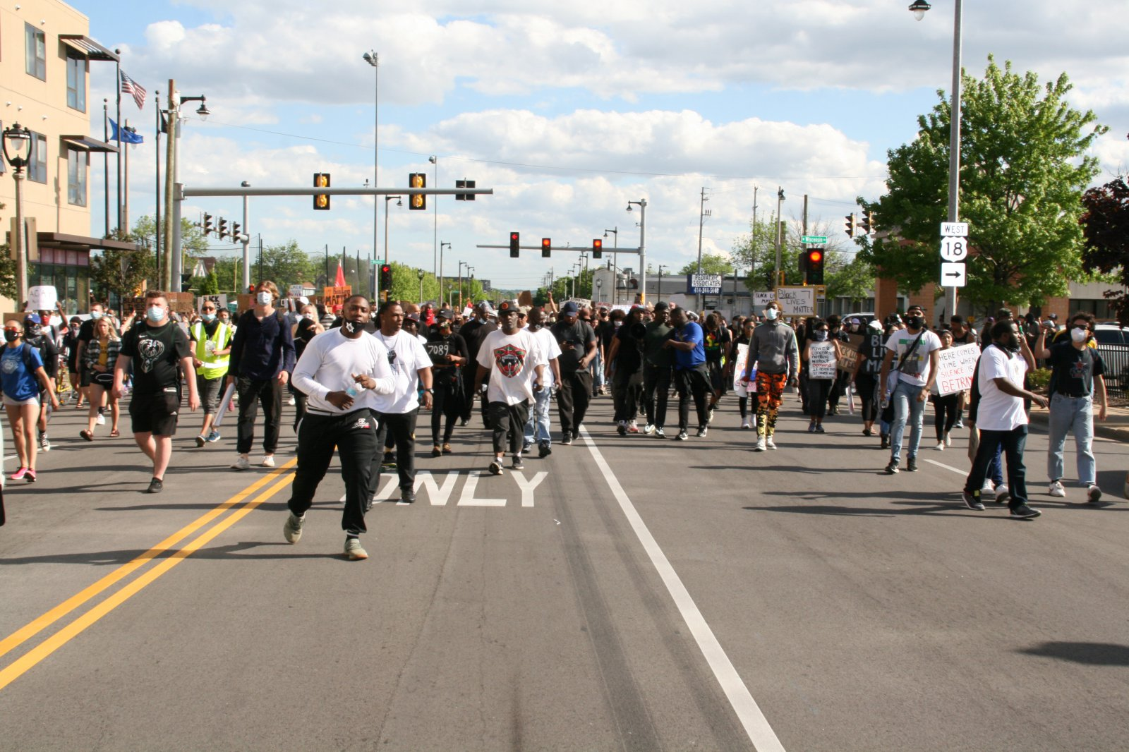 March North on N. 35th St.