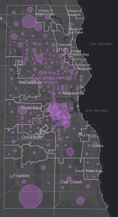 April 28 COVID-19 Milwaukee County - New Cases in Last 14 Days
