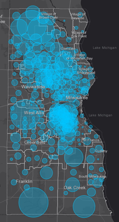 April 30 COVID-19 Milwaukee County Case Map