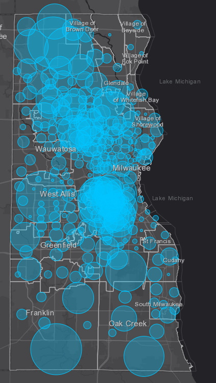 May 6 COVID-19 Milwaukee County Case Map