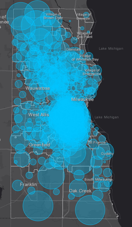 May 20 COVID-19 Milwaukee County Case Map