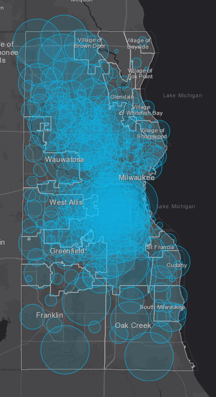 June 3rd COVID-19 Milwaukee County Case Map