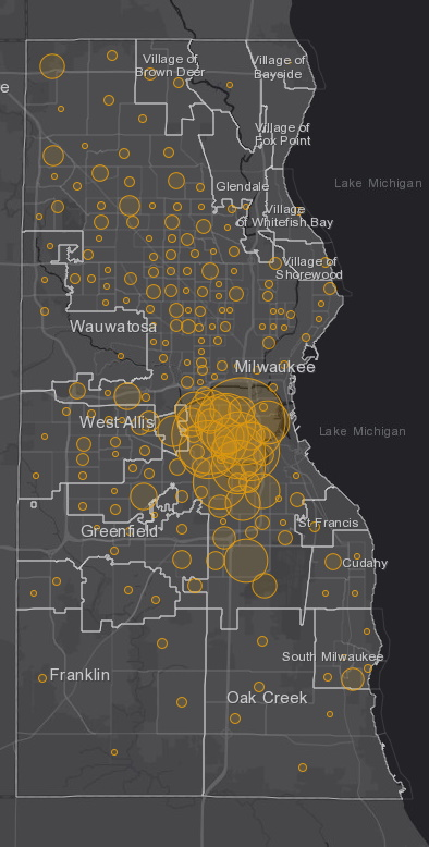June 4 COVID-19 Milwaukee County - New Cases in Last 7 Days