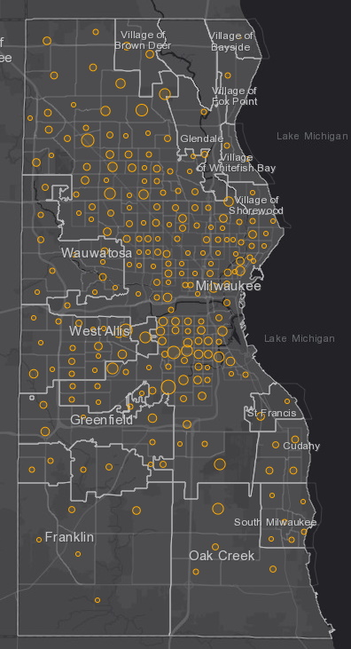 June 29 COVID-19 Milwaukee County - New Cases in Last 7 Days