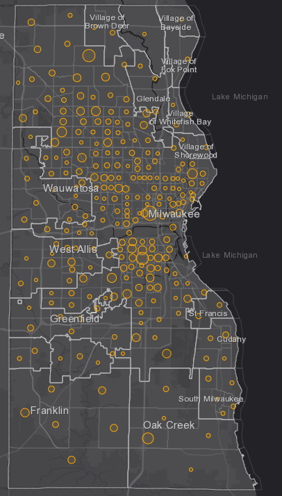July 6 COVID-19 Milwaukee County - New Cases in Last 7 Days