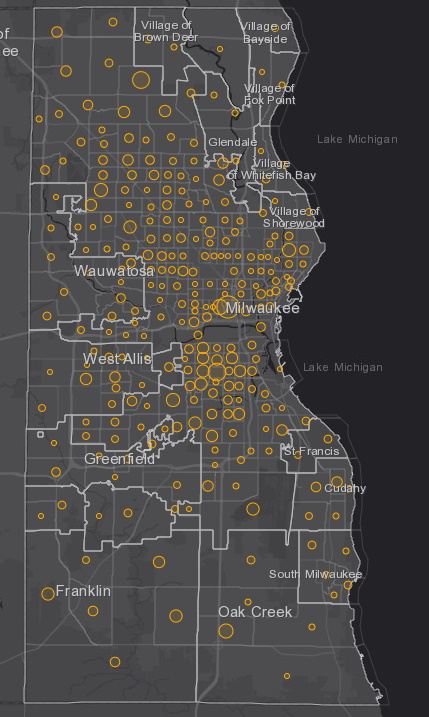 July 7 COVID-19 Milwaukee County - New Cases in Last 7 Days