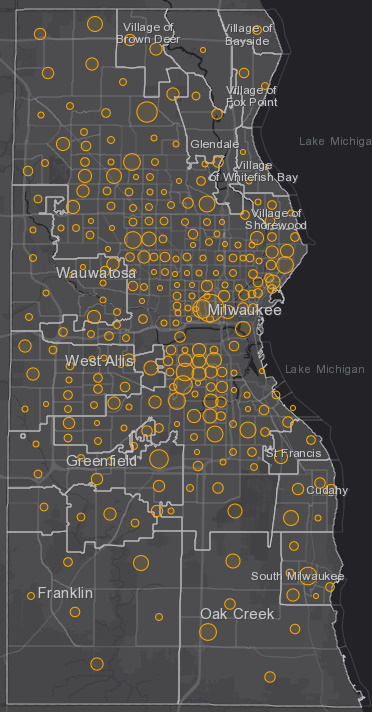 July 13 COVID-19 Milwaukee County - New Cases in Last 7 Days