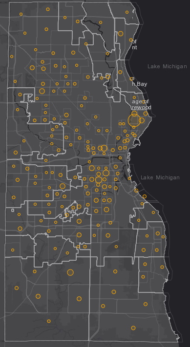 September 14th COVID-19 Milwaukee County - New Cases in Last 7 Days