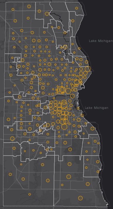 September 29th COVID-19 Milwaukee County - New Cases in Last 7 Days