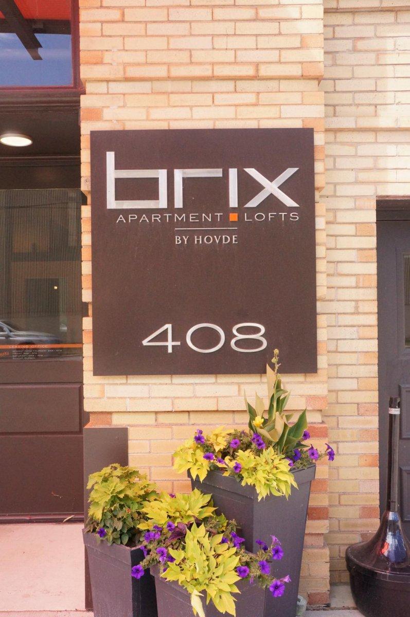 Brix Apartment Lofts Signage