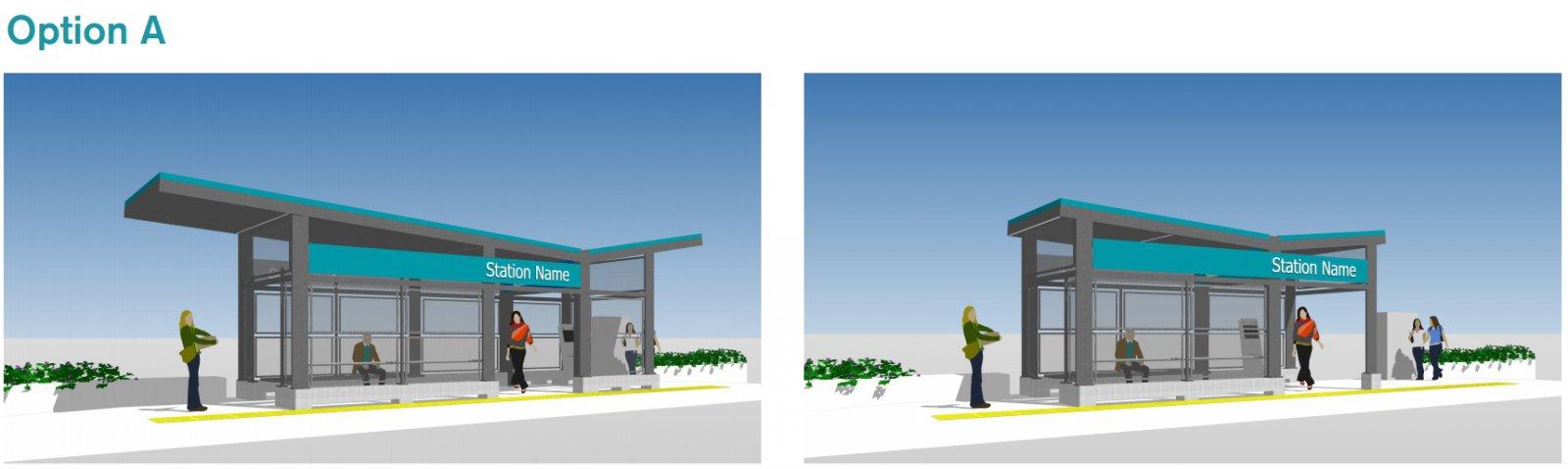 BRT Station Option A