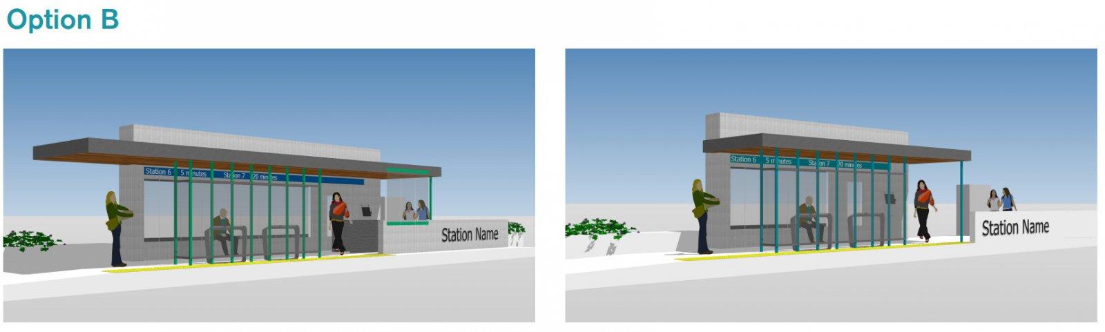 BRT Station Option B
